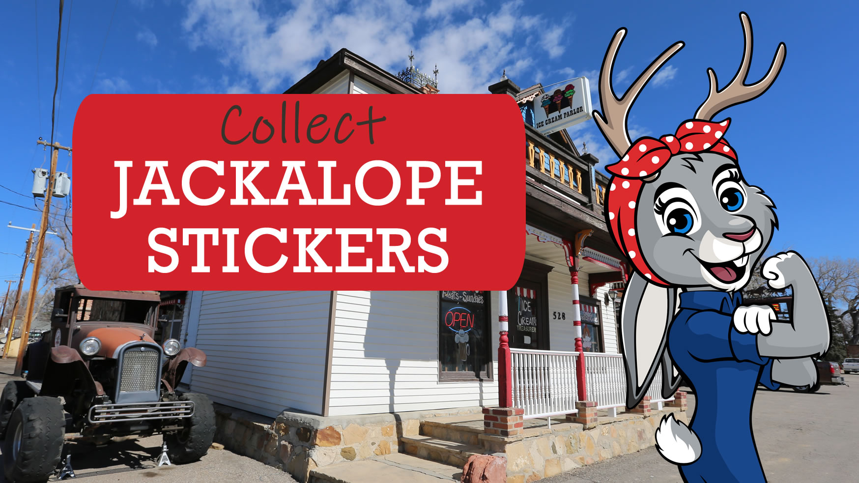 Collect Jackalope Stickers in Glenrock & Douglas